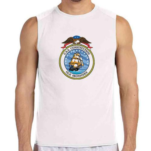 uss constitution white sleeveless shirt