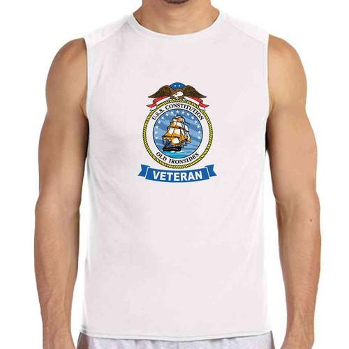 uss constitution veteran white sleeveless shirt