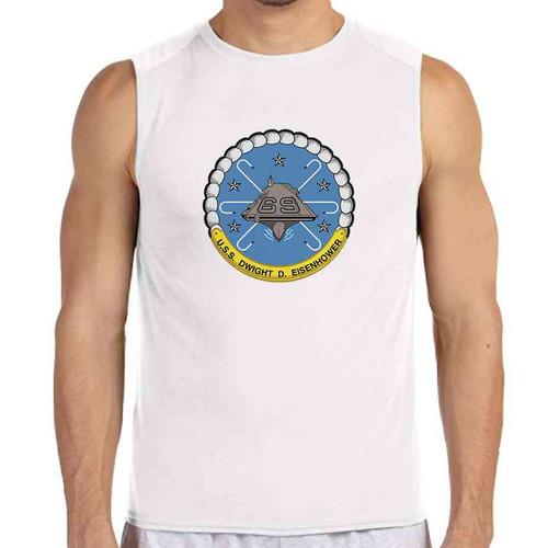 uss dwight d eisenhower white sleeveless shirt