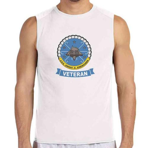 uss dwight d eisenhower veteran white sleeveless shirt