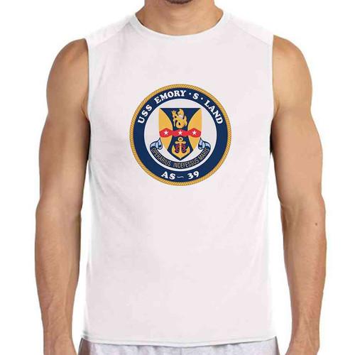 uss emory s land white sleeveless shirt