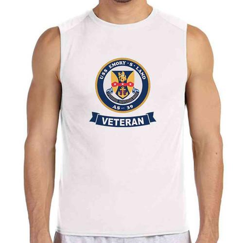 uss emory s land veteran white sleeveless shirt