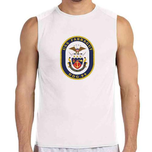 uss farragut white sleeveless shirt