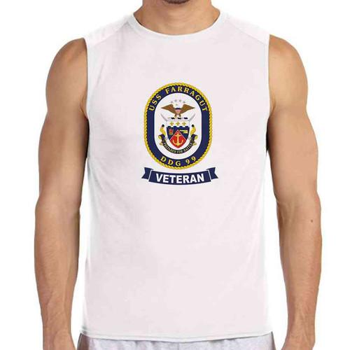 uss farragut veteran white sleeveless shirt