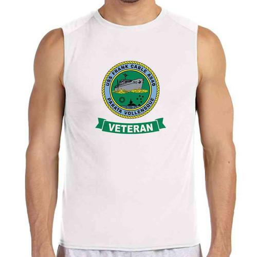 uss frank cable veteran white sleeveless shirt