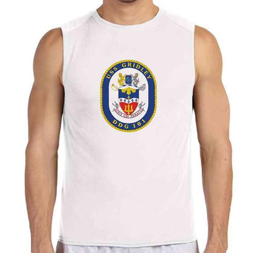uss gridley white sleeveless shirt