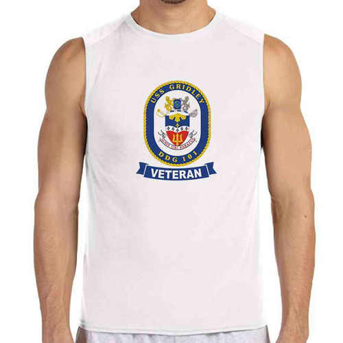 uss gridley veteran white sleeveless shirt