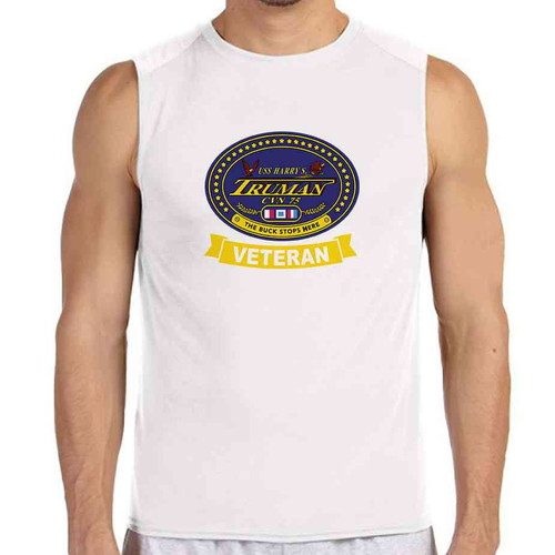 uss harry s truman veteran white sleeveless shirt