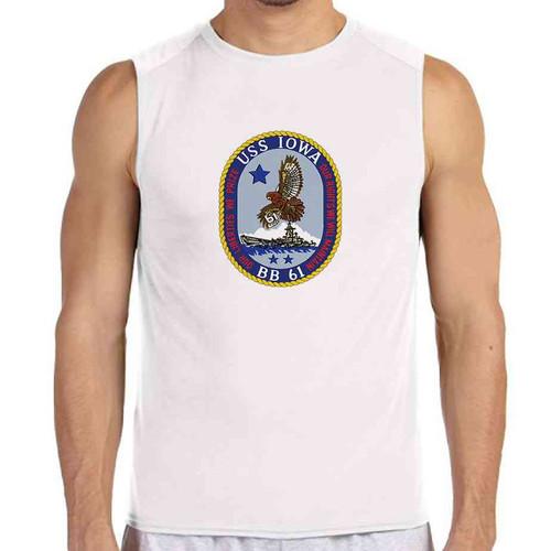 uss iowa white sleeveless shirt