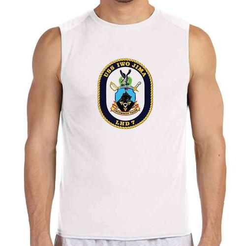 uss iwo jima white sleeveless shirt