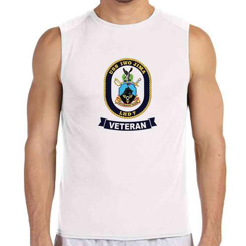 uss iwo jima veteran white sleeveless shirt