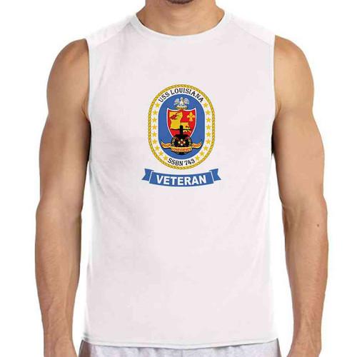 uss louisiana veteran white sleeveless shirt