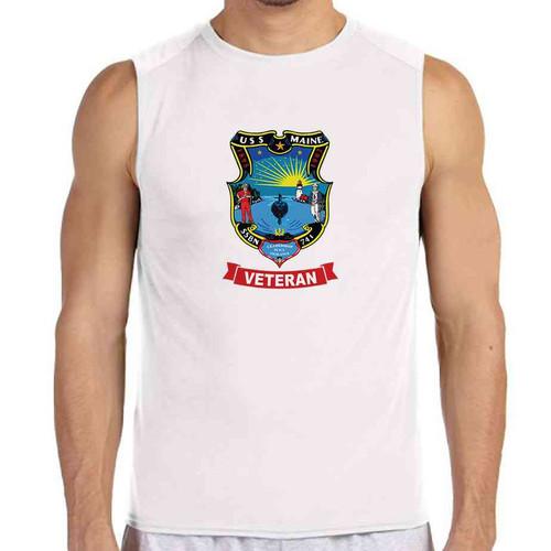 uss maine veteran white sleeveless shirt