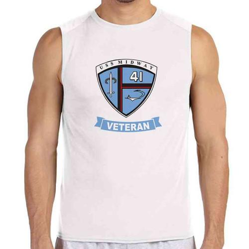 uss midway veteran white sleeveless shirt