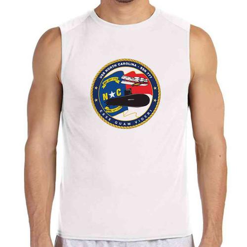 uss north carolina white sleeveless shirt