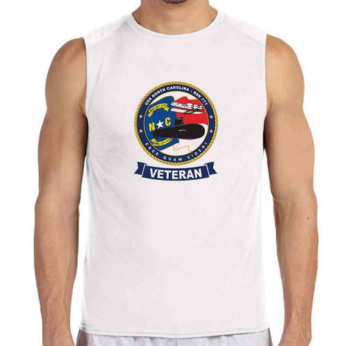 uss north carolina veteran white sleeveless shirt