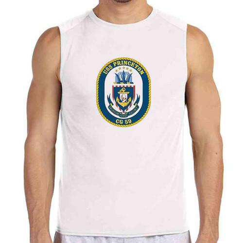 uss princeton white sleeveless shirt