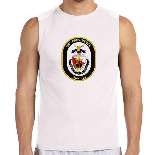 uss providence white sleeveless shirt