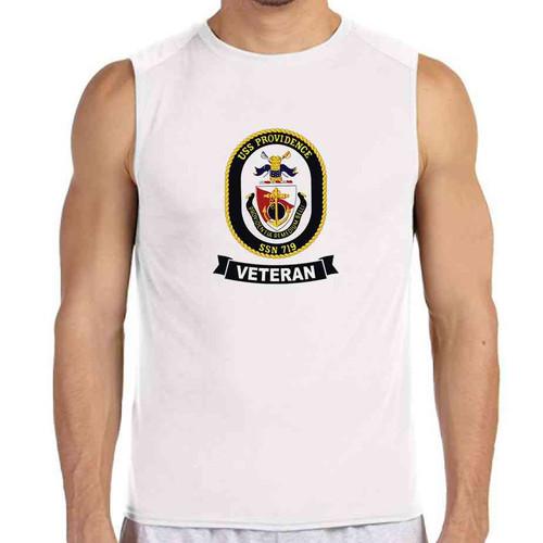 uss providence veteran white sleeveless shirt