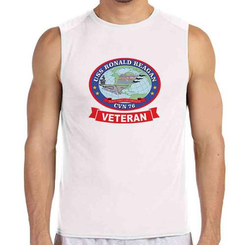 uss ronald reagan veteran white sleeveless shirt