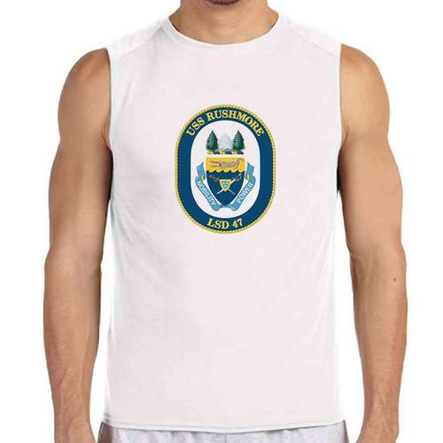 uss rushmore white sleeveless shirt