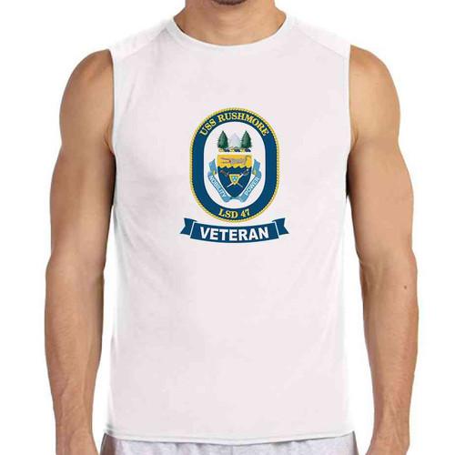 uss rushmore veteran white sleeveless shirt