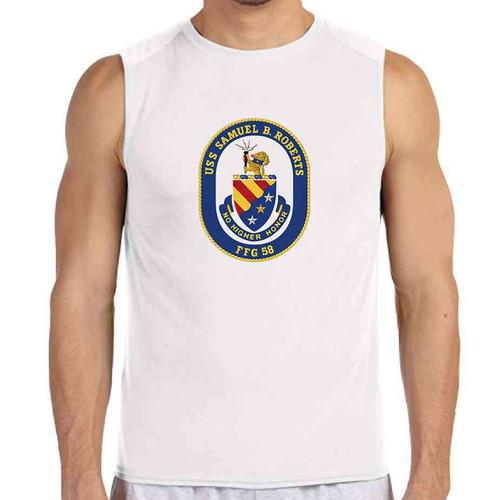 uss samuel b roberts white sleeveless shirt