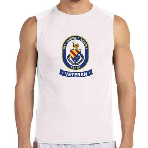 uss samuel b roberts veteran white sleeveless shirt
