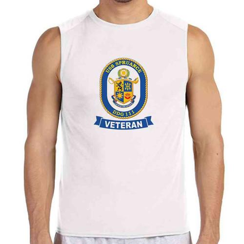 uss spruance veteran white sleeveless shirt