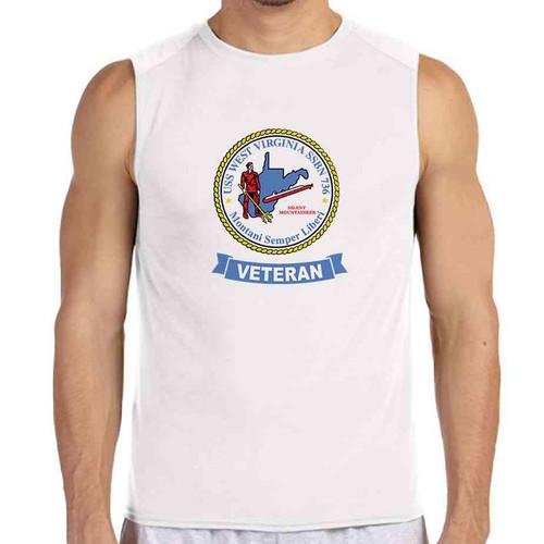 uss west virginia veteran white sleeveless shirt