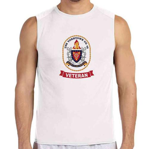 uss yorktown veteran white sleeveless shirt