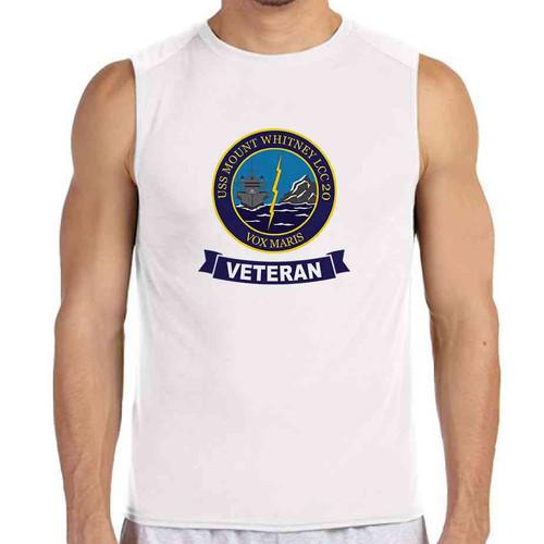 uss mount whitney veteran white sleeveless shirt