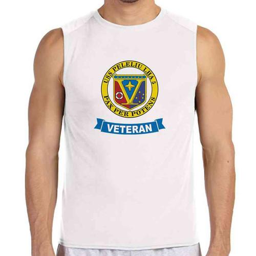 uss peleliu veteran white sleeveless shirt