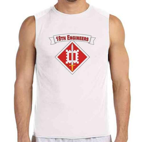 18th engineer brigade white sleeveless shirt