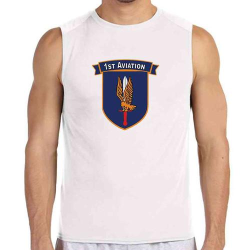 1st aviation white sleeveless shirt