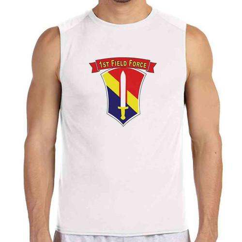 1st field force white sleeveless shirt