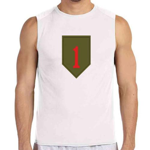 1st infantry division white sleeveless shirt