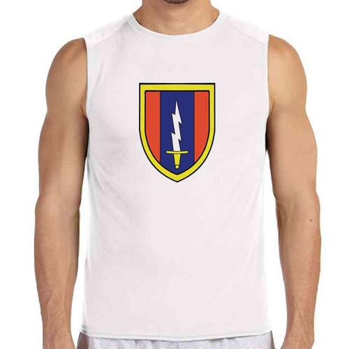 1st signal brigade white sleeveless shirt
