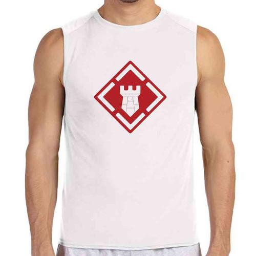 20th engineer brigade white sleeveless shirt