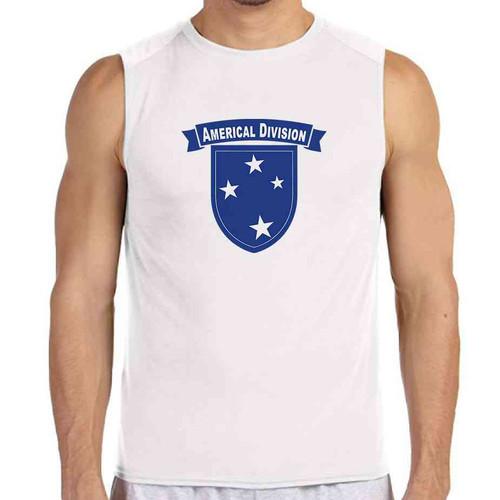 23rd infantry division white sleeveless shirt