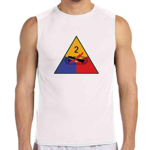 2nd armored division white sleeveless shirt