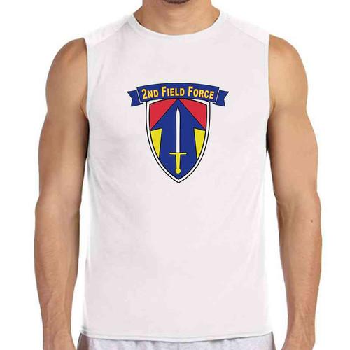 2nd field force white sleeveless shirt