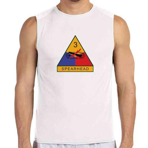 3rd armored division white sleeveless shirt