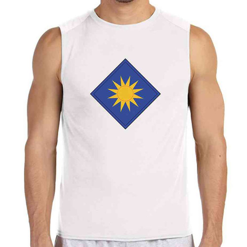 40th infantry division white sleeveless shirt