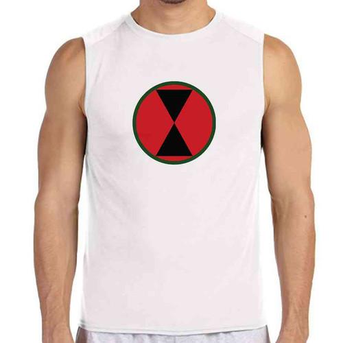 7th infantry division white sleeveless shirt