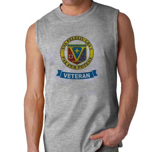 uss peleliu veteran sleeveless shirt