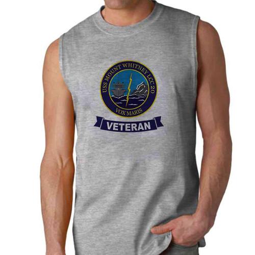 uss mount whitney veteran sleeveless shirt
