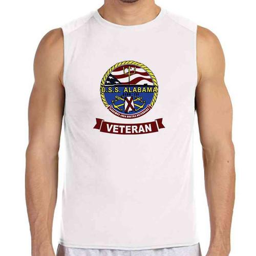 uss alabama veteran white sleeveless shirt