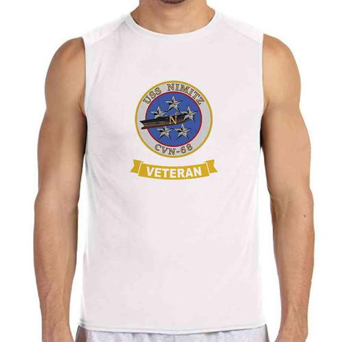 uss nimitz veteran white sleeveless shirt