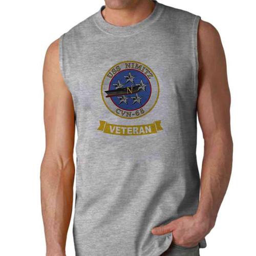 uss nimitz veteran sleeveless shirt